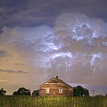 Rural Country Cabin Lightning Storm Print by James BO  Insogna