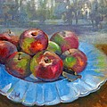 Rustic Apples Poster by Donna Shortt