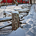 Rustic fence to Maple Hill Farm - Roxbury Ct Poster by Thomas Schoeller