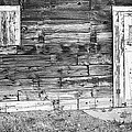 Rustic Old Colorado Barn Door and Window BW Print by James BO  Insogna