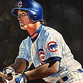 Ryne Sandberg - Chicago Cubs Poster by Michael  Pattison