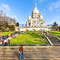 Sacre Coeur - Basilica Overlooking Paris Poster by Mark Tisdale