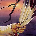 Sacred Feathers Print by Robert Hooper