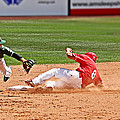 Safe at second Poster by Bob Hislop