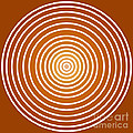 Saffron Colored Abstract Circles Print by Frank Tschakert