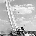 Sailboat charging the waves Print by Retro Images Archive