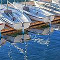 Sailboats and dock Print by Cliff Wassmann