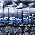 sailboats Print by Stylianos Kleanthous