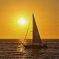 Sailing into the sunset Print by Aged Pixel