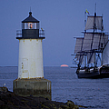 Sailing out for the red moon Print by Jeff Folger