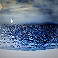 Sailing The Liquid Blue Poster by Joyce Dickens