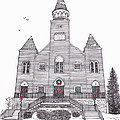 Saint Bridget's Church at Christmas Poster by Michelle Welles