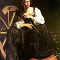 Saint Catherine of Alexandria Print by Caravaggio