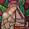 Saint Cecilia Poster by Gilroy Stained Glass