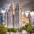 Salt Lake Temple Print by Niels Nielsen