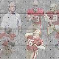 SAN FRANCISCO 49ERS LEGENDS Print by Joe Hamilton