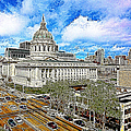 San Francisco City Hall 5D22507 Photoart Print by Wingsdomain Art and Photography