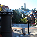 San Francisco Coit Tower At Levis Plaza 5D26213 Poster by Wingsdomain Art and Photography
