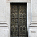 San Francisco Emporio Armani Store Doors - 5D20538 Print by Wingsdomain Art and Photography