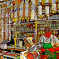 San Francisco North Beach Deli 20130505v2 square Poster by Wingsdomain Art and Photography