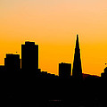 San Francisco Silhouette Print by Bill Gallagher