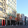 San Francisco Stockton Street at Union Square - 5D20564 Print by Wingsdomain Art and Photography