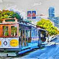 San Francisco Trams 4 Poster by Yury Malkov