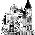 San Francisco Victorian Print by Mary Palmer