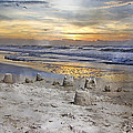 Sandcastle Sunrise Print by Betsy A  Cutler
