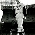 Sandy Koufax Vintage Baseball Poster Print by Gianfranco Weiss