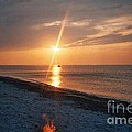Sandy Neck Beach Sunset Print by Lisa  Marie Germaine