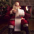 Santa Checking HIs List Print by Diane Diederich