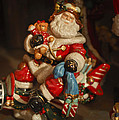 Santa Claus - Antique Ornament -05 Print by Jill Reger