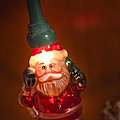 Santa Claus - Antique Ornament - 06 Print by Jill Reger
