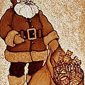 Santa Claus Bag Poster by Georgeta  Blanaru