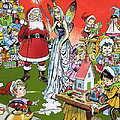 Santa Claus Toy Factory Poster by Jesus Blasco