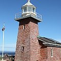 Santa Cruz Lighthouse Surfing Museum California 5D23937 Print by Wingsdomain Art and Photography