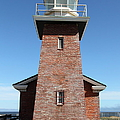 Santa Cruz Lighthouse Surfing Museum California 5D23944 Print by Wingsdomain Art and Photography