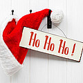 Santa Hat and Sign Print by Amanda And Christopher Elwell