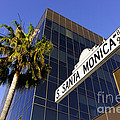 Santa Monica Blvd Sign in Beverly Hills California Poster by Paul Velgos