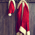Santa's Hat And Coat Print by Christopher and Amanda Elwell