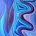 Sapphire Passion - Luminescent Light Print by Daina White