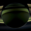 Saturns Glowing Rings Print by Adam Romanowicz