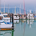 Sausalito Harbor California Print by Marianne Campolongo