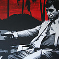 Scarface - Sunset 2013 Print by Luis Ludzska