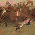 Scene from the Steeplechase The Fallen Jockey Print by Edgar Degas