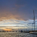 Schooner Germania Nova Sunset Print by Dustin K Ryan