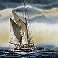 Schooner Print by James Williamson