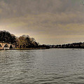 Schuylkill River on a Cloudy Day Print by Bill Cannon