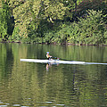 Schuylkill Rower Print by Bill Cannon